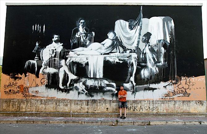 Conor Harrington picteaza fresce contemporane pe peretii italienilor - Poza 1