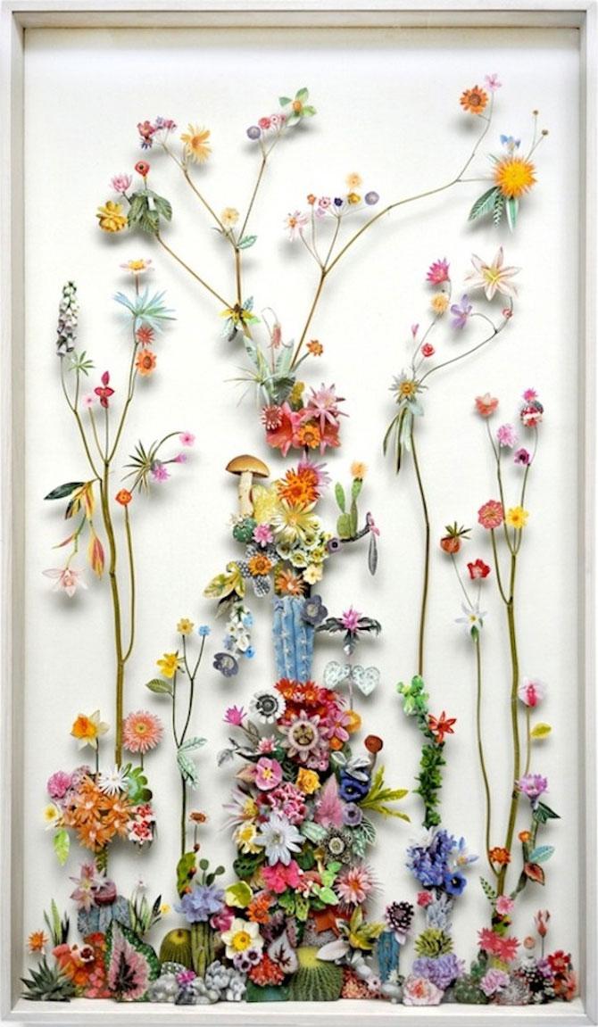 Constructii din flori reciclate de Anne ten Donkelaar - Poza 1