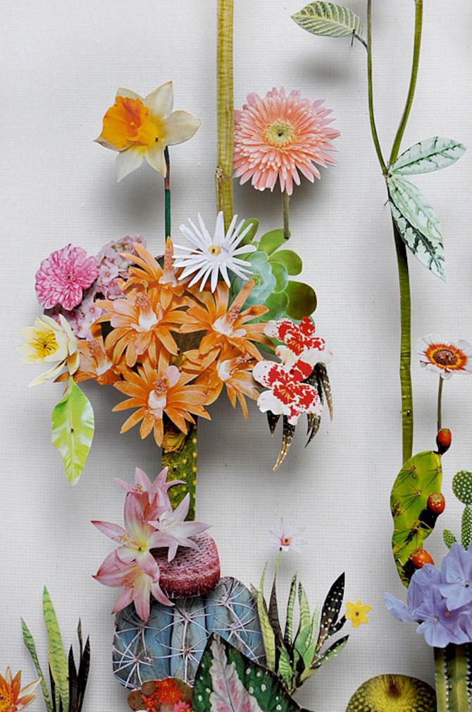 Constructii din flori reciclate de Anne ten Donkelaar - Poza 2