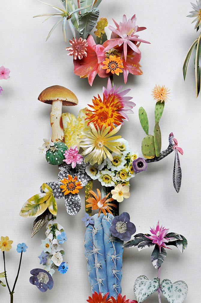 Constructii din flori reciclate de Anne ten Donkelaar - Poza 3