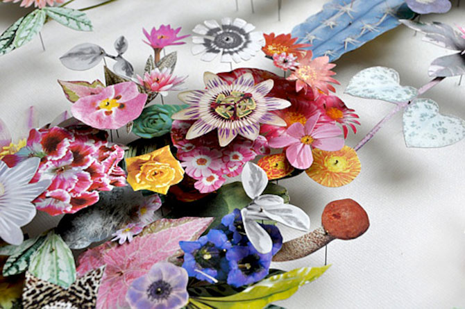 Constructii din flori reciclate de Anne ten Donkelaar - Poza 4