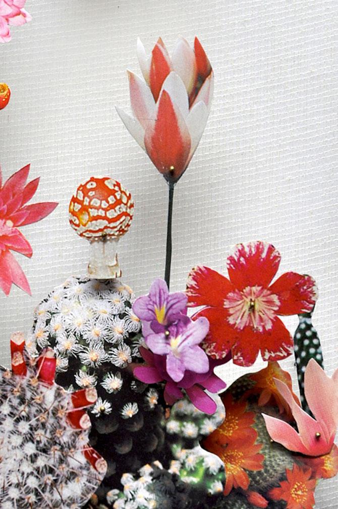 Constructii din flori reciclate de Anne ten Donkelaar - Poza 5