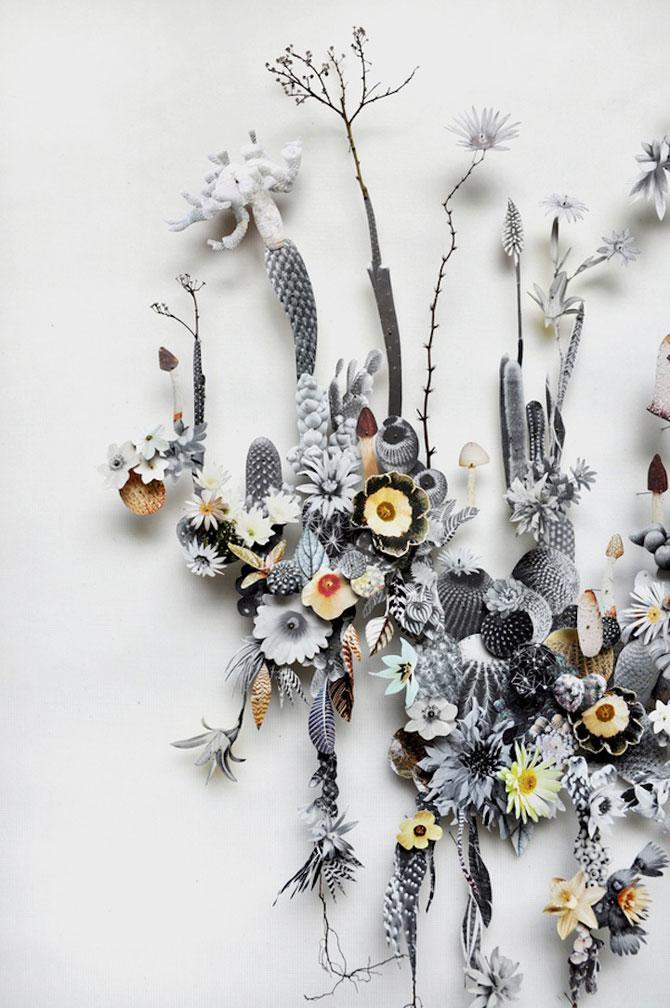 Constructii din flori reciclate de Anne ten Donkelaar - Poza 6