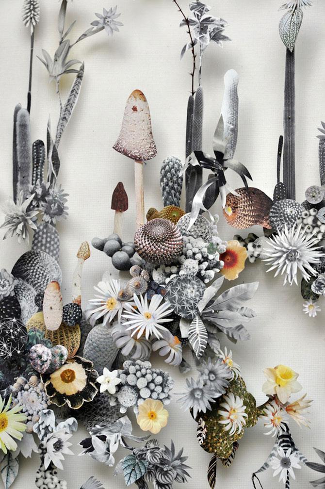 Constructii din flori reciclate de Anne ten Donkelaar - Poza 7