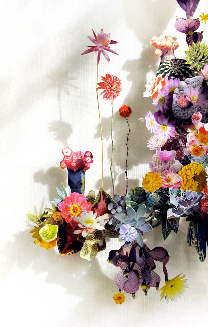 Constructii din flori reciclate de Anne ten Donkelaar - Poza 8