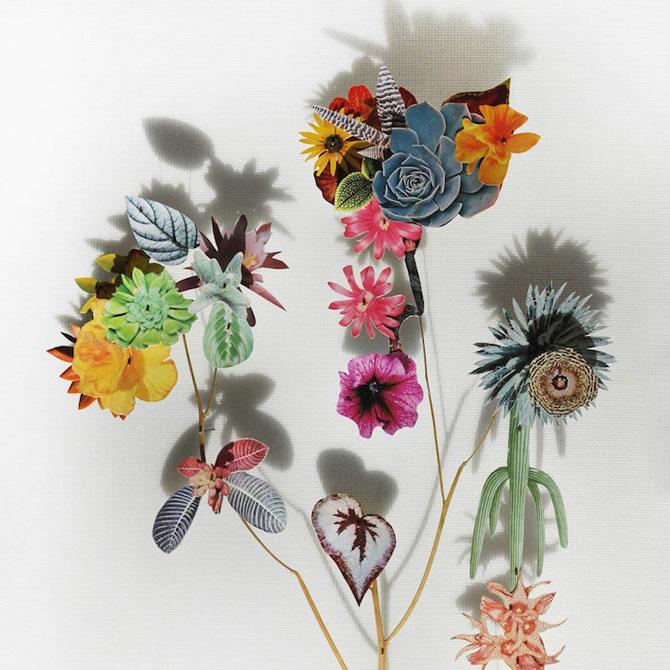 Constructii din flori reciclate de Anne ten Donkelaar - Poza 9