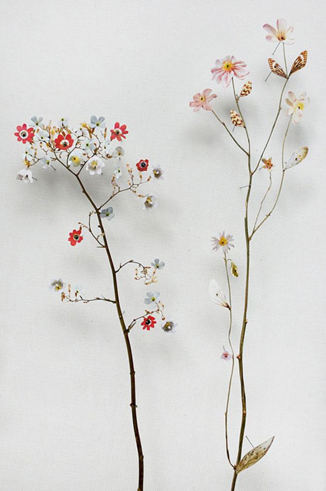 Constructii din flori reciclate de Anne ten Donkelaar - Poza 10
