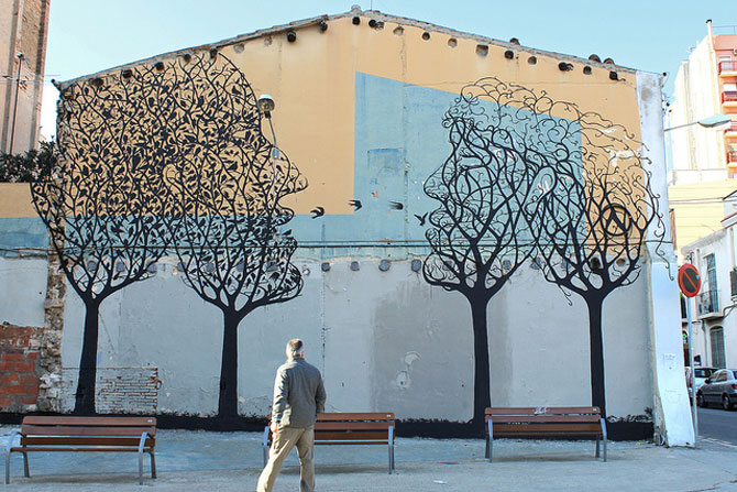 Padure de copaci vorbitori la Barcelona - Poza 1