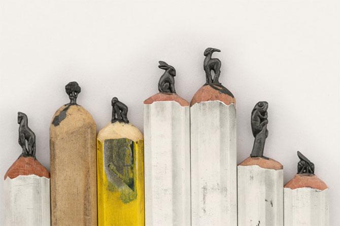 Alfabetul sculptat in creioane colorate - Poza 6