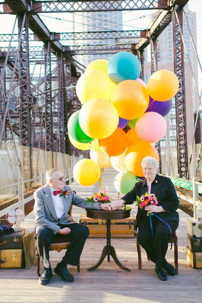 61 de ani de casnicie, aniversati in stilul Up! - Poza 11
