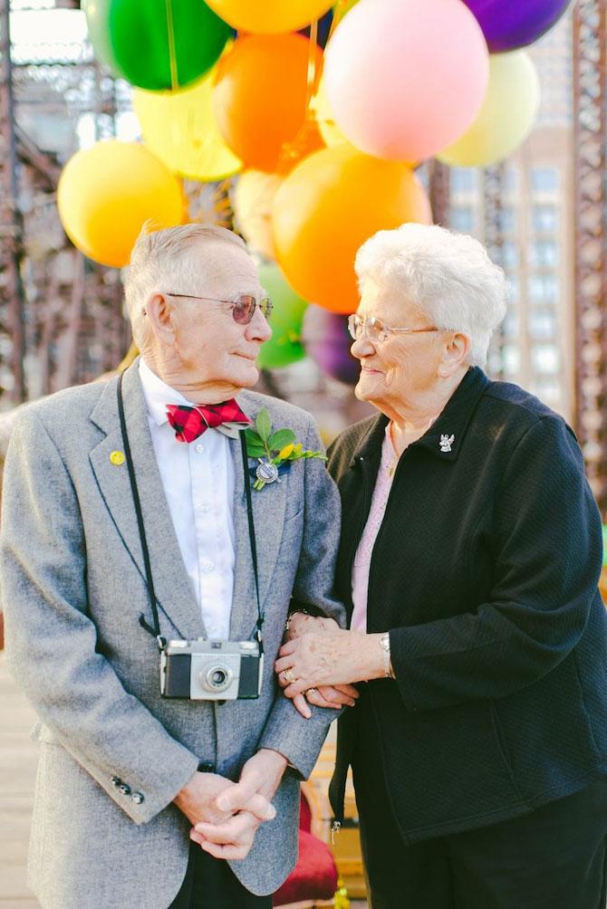 61 de ani de casnicie, aniversati in stilul Up! - Poza 12