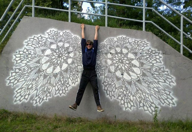 Varsovia dantelata de o artista urbana - Poza 3