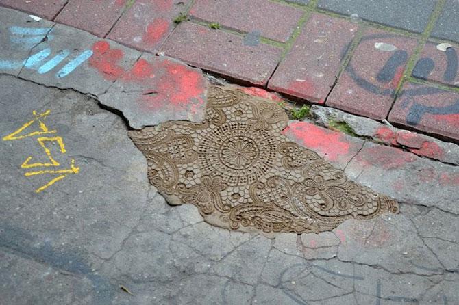 Varsovia dantelata de o artista urbana - Poza 4