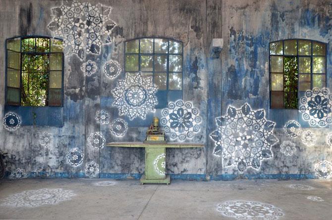 Varsovia dantelata de o artista urbana - Poza 9