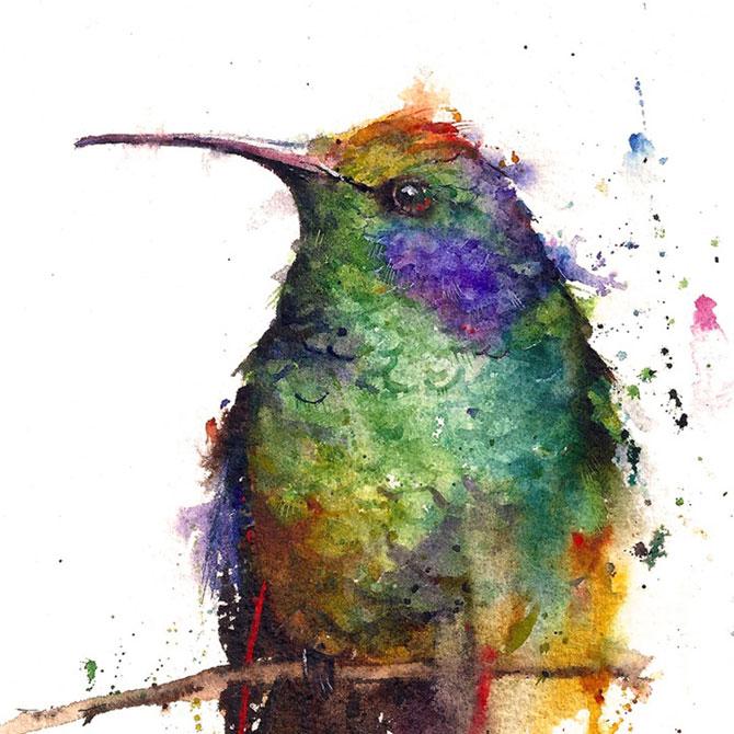 Animale in acuarele ireale, de Dean Crouser - Poza 7