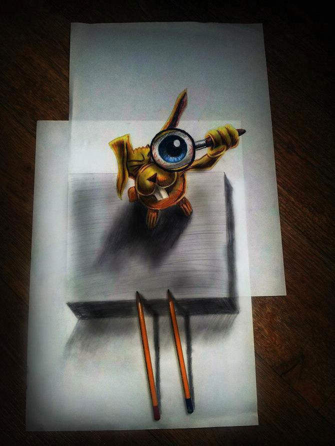 Iluzii intre 2D si 3D de Ramon Bruin