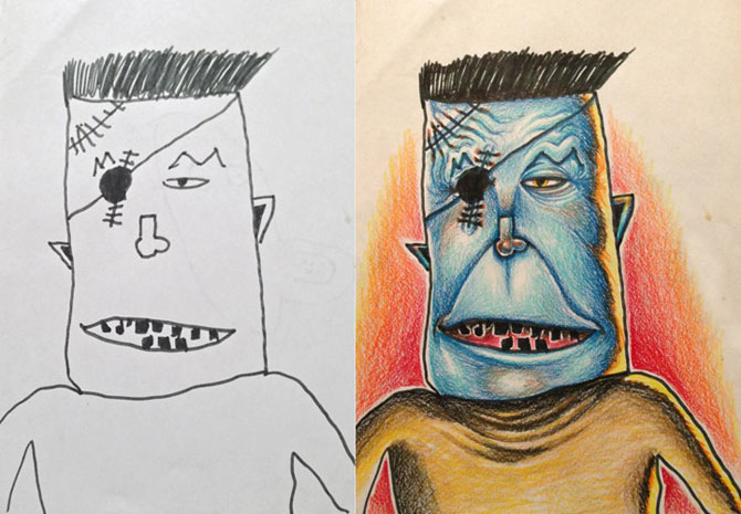Desenele copiilor, colorate de tata - Poza 3