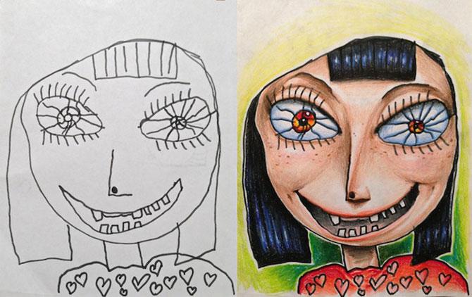 Desenele copiilor, colorate de tata - Poza 4