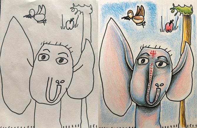 Desenele copiilor, colorate de tata - Poza 5