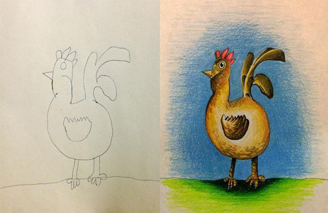 Desenele copiilor, colorate de tata - Poza 6