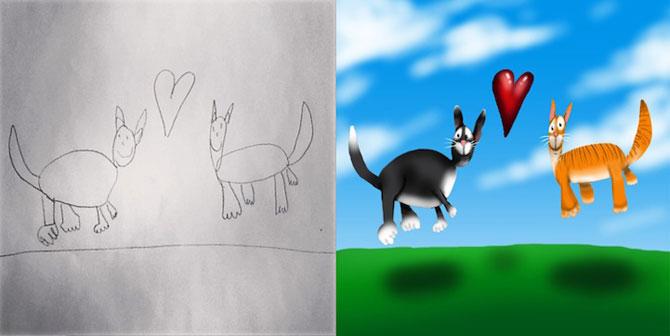 Desenele copiilor, colorate de tata - Poza 10