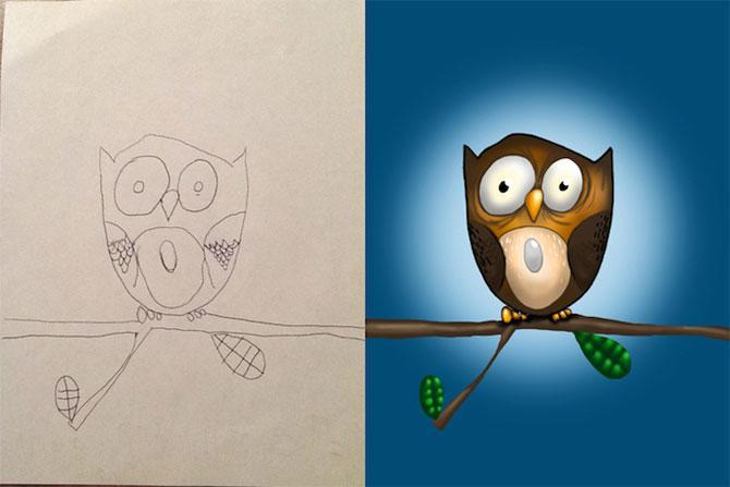 Desenele copiilor, colorate de tata - Poza 11