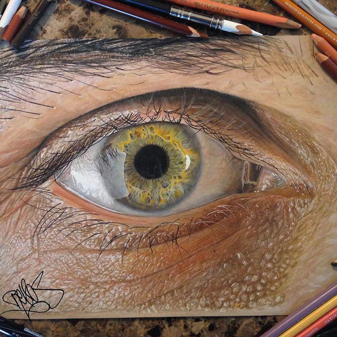 Ochi umani in desene hiper-realiste, de Redosking - Poza 1