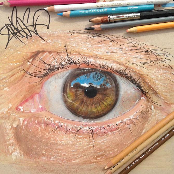 Ochi umani in desene hiper-realiste, de Redosking - Poza 2