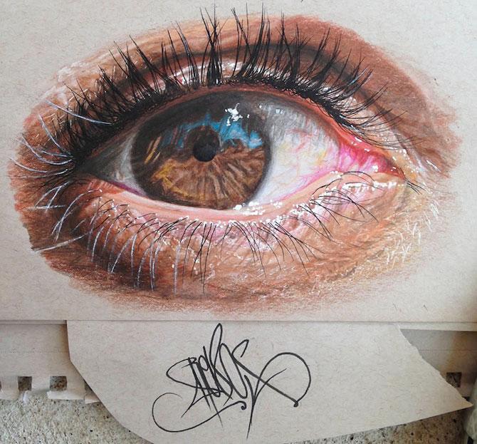Ochi umani in desene hiper-realiste, de Redosking - Poza 3