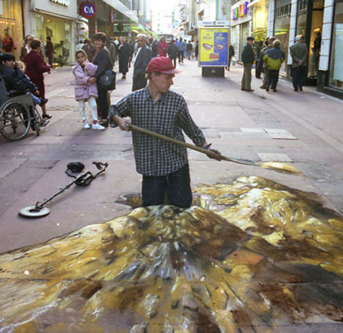 15 desene incredibil de reale pe asfalt - Poza 5