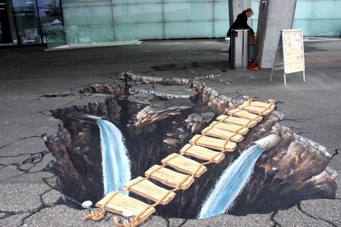 15 desene incredibil de reale pe asfalt - Poza 8