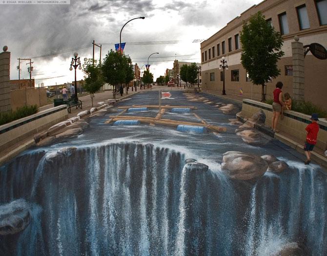 15 desene incredibil de reale pe asfalt - Poza 9