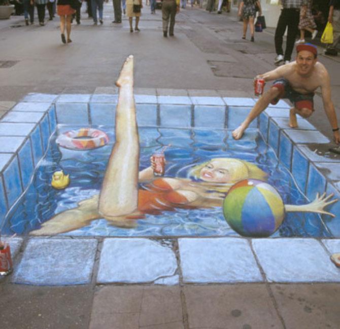 15 desene incredibil de reale pe asfalt - Poza 13