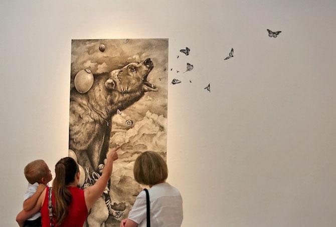 Lumea animalelor desenate pe pereti de Adonna Khare