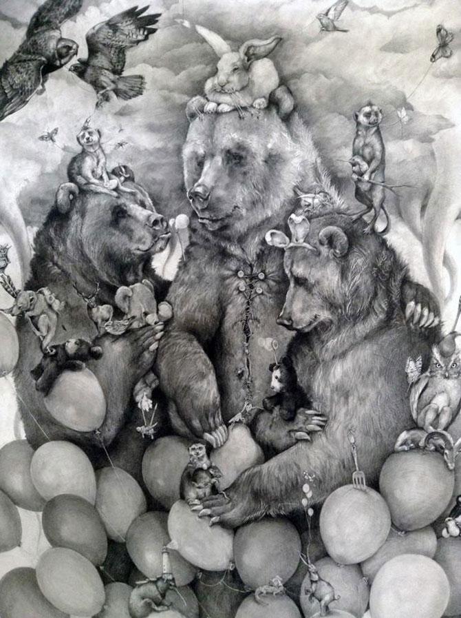 Animale desenate pe pereti de Adonna Khare - Poza 3