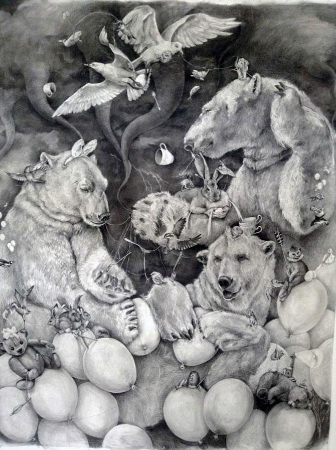 Animale desenate pe pereti de Adonna Khare - Poza 4