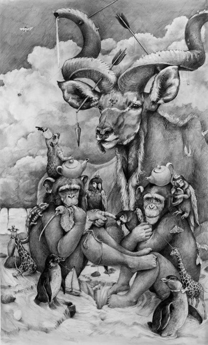 Animale desenate pe pereti de Adonna Khare - Poza 5