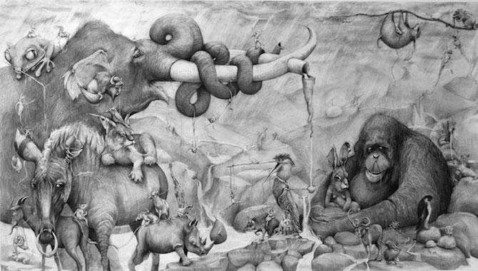 Animale desenate pe pereti de Adonna Khare - Poza 6