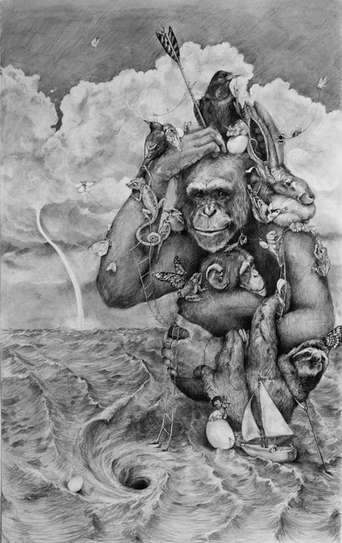 Animale desenate pe pereti de Adonna Khare - Poza 7