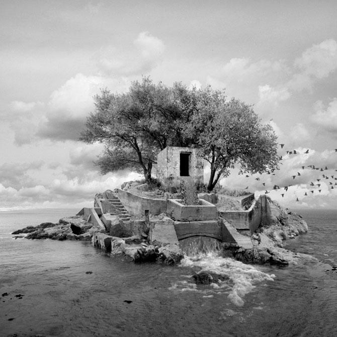 Peisaje photoshop alb negru Jim Kazanjian