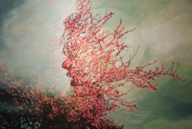 Colaje cu nori si flori de Pakayla Biehn - Poza 1