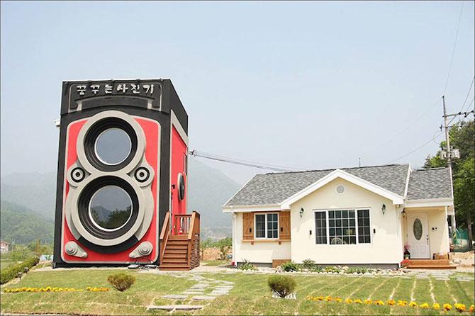 Cafeneaua in forma de aparat foto, din Coreea de Sud - Poza 2