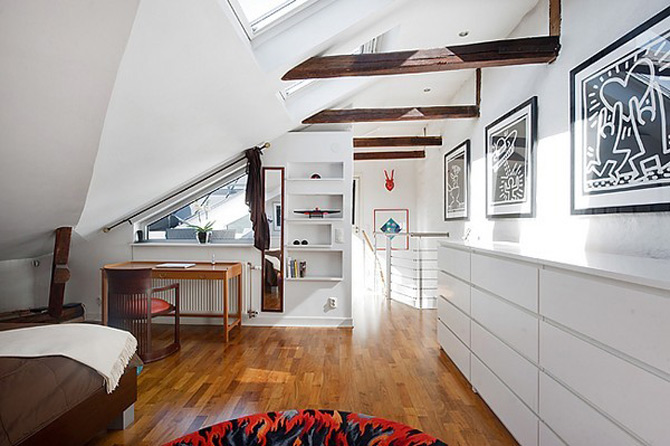 Duplex modern amenajat in lumina soarelui scandinav - Poza 1