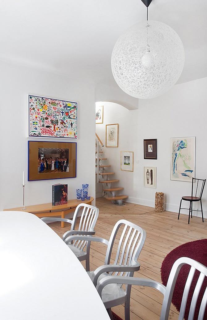 Duplex modern amenajat in lumina soarelui scandinav - Poza 13
