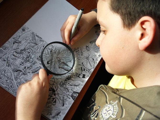 Cel mai talentat desenator de 11 ani: Dusan Krtolica - Poza 1