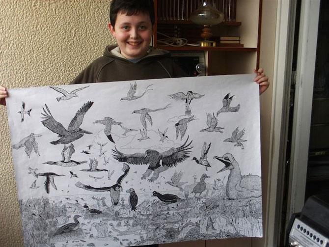 Cel mai talentat desenator de 11 ani: Dusan Krtolica - Poza 6