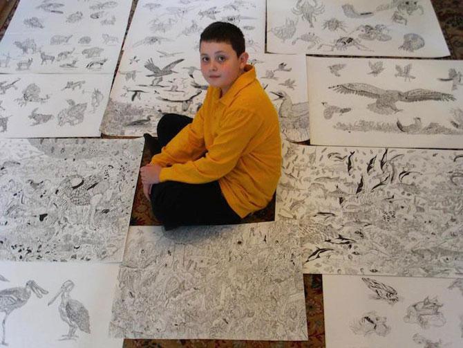 Cel mai talentat desenator de 11 ani: Dusan Krtolica - Poza 8