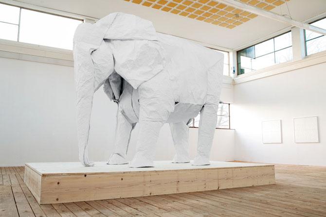 Elefant-origami, dintr-o singura coala de hartie - Poza 4