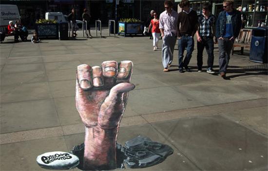 25 de desene 3D pe asfalt - Poza 8