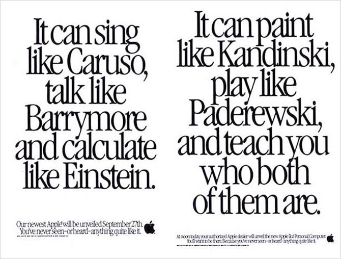 Reclamele Apple, din anii 70 pana azi - Poza 4